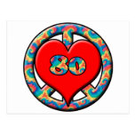 Peace, Heart, 80 Post Cards