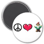 Peace Heart Gnome Fridge Magnet