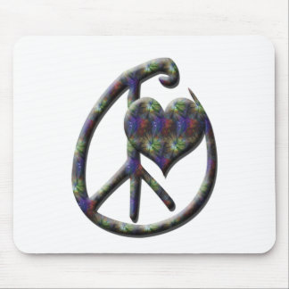 Peace Heart Mouse Pad