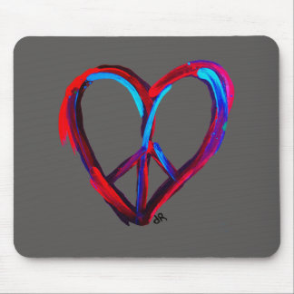 peace heart mouse pad