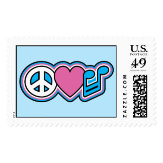 Peace Heart Music Postage