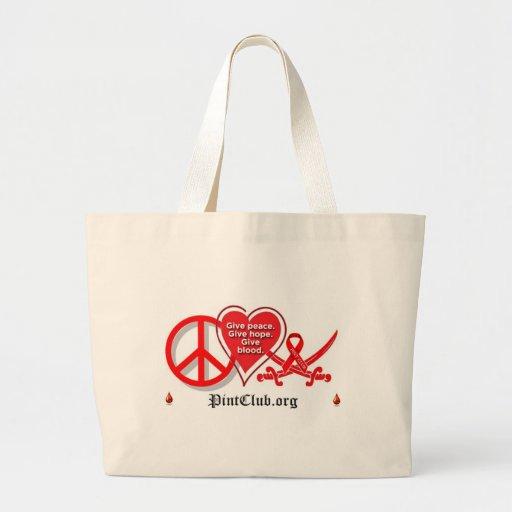 Peace Heart PintClub Bag