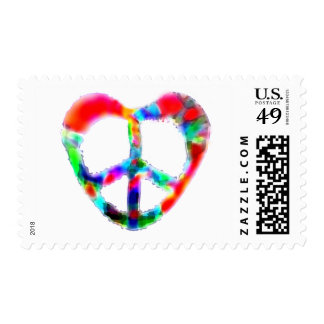 Peace Heart Postage