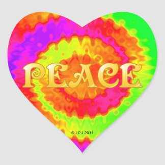 Peace Heart Stickers