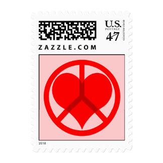 Peace heart Valentine's Day Postage