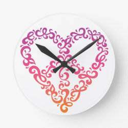 Peace-Heart Wall Clock