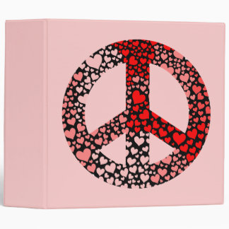 peace hearts binder