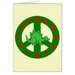 peace hearts dinosaur greeting cards