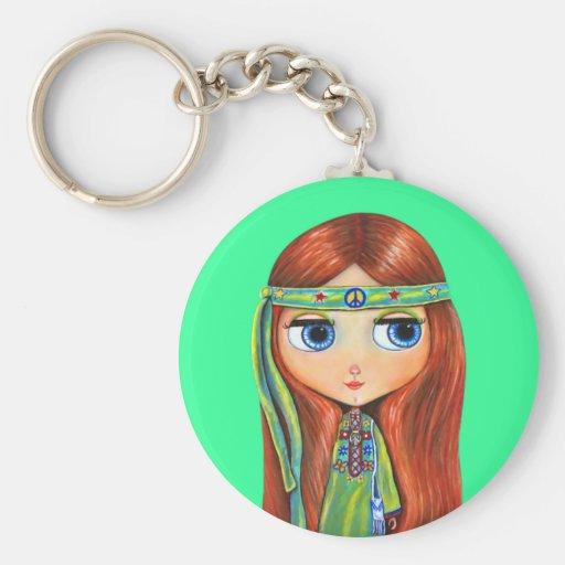 Peace Hippie Keychain