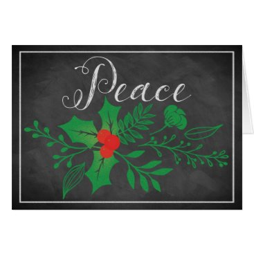 Professional Business Peace Holiday Card | Faux Chalkboard