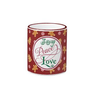 Peace Holiday Christmas Gingerbread Cookie Mug