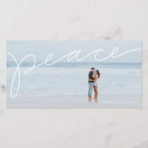 Peace holiday photo card
