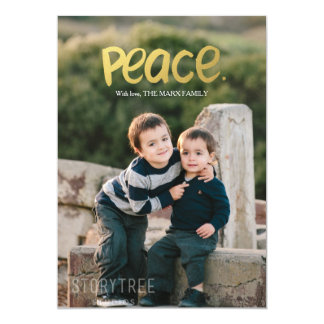 Peace | Holiday Photo Card