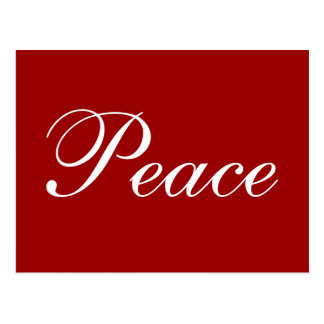 Peace Holiday Postcard