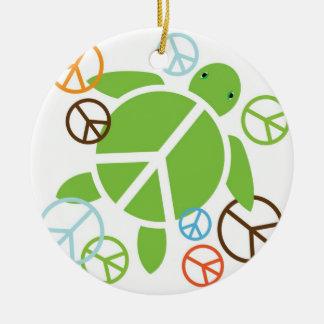 Peace Honu Holiday Christmas Ornament