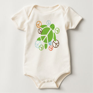 Peace Honu Infant Organic Bodysuit / Creeper