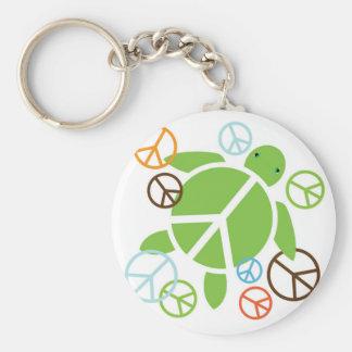 Peace Honu Key Chain