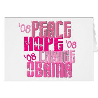 Peace Hope Change Obama 3 Card