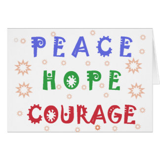 Peace Hope Courage Cards