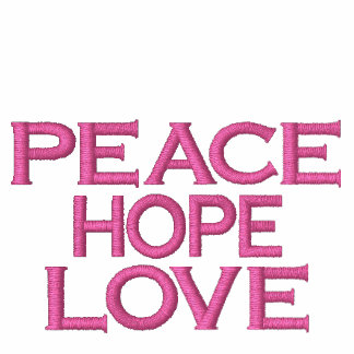 PEACE HOPE LOVE AA FLEECE ZIP HOODIE