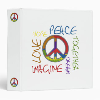 Peace Hope Love Binder