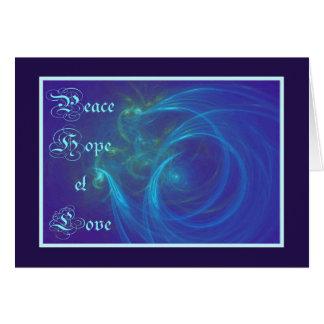 PEACE HOPE LOVE GREETING CARD