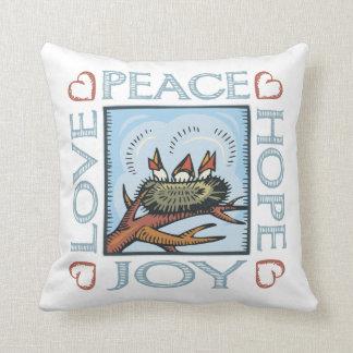 Peace, Hope, Love, Joy Throw Pillows