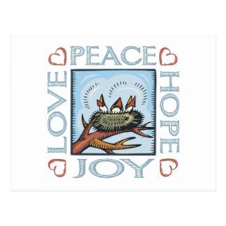 Peace, Hope, Love, Joy Postcard