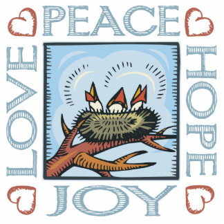 Peace, Hope, Love, Joy Statuette