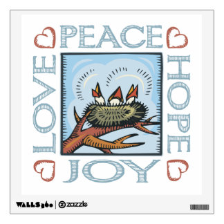 Peace, Hope, Love, Joy Wall Decal