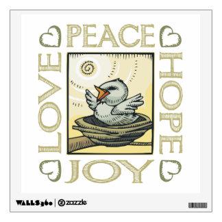 Peace, Hope, Love, Joy Wall Sticker