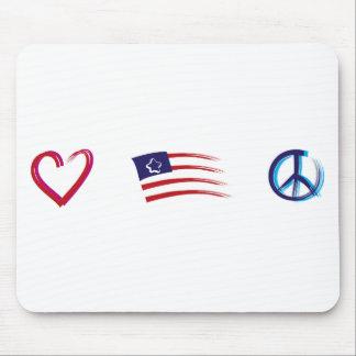 Peace Hope Love Mouse Pad