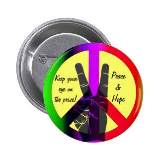 Peace & Hope_ Pinback Button