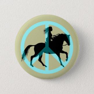 peace horse riding button