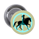 peace horse riding pinback buttons