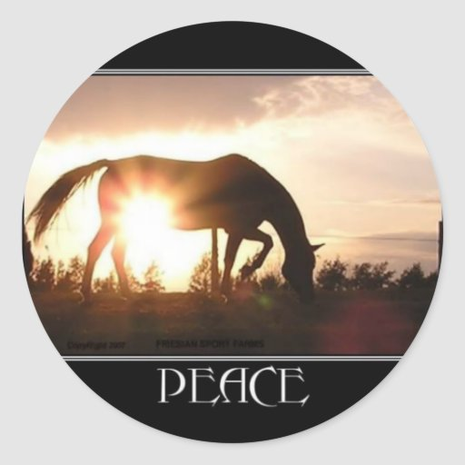 PEACE Horse Stickers