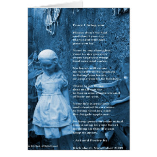 Peace I bring you thoughtful greeting card poem
