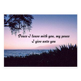 Peace I Leave Postcard