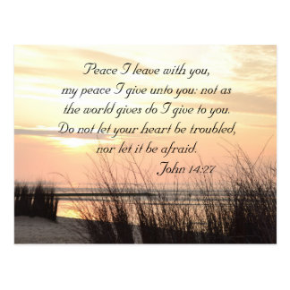 Peace I leave with you, Bible Ocean Sunset Custom Postcard