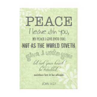 Peace I leave with you Christian John 14:27 Canvas Print