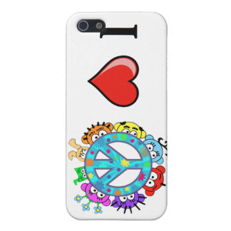Peace: I love Peace and Planet Peek-A-Boo Case For iPhone SE/5/5s