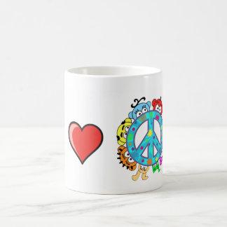 Peace: I love Peace and Planet Peek-A-Boo Coffee Mug
