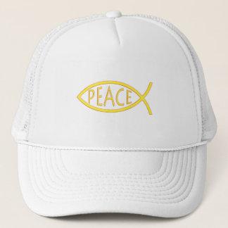 Peace- Ichthus - Christian Fish Symbol Trucker Hat