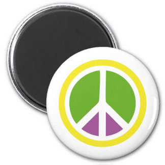 peace icon 2 inch round magnet