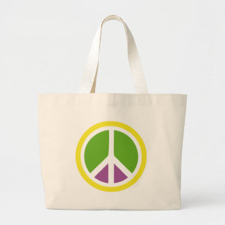peace icon tote bags