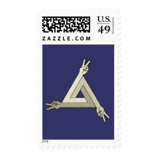 Peace Illusion 2 Postage Stamp