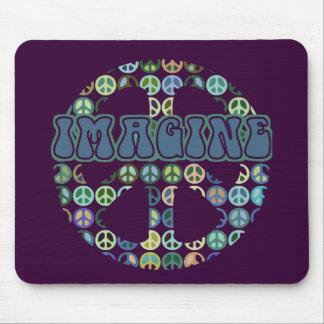 Peace - Imagine Peace Mouse Pad