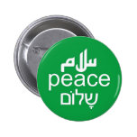Peace in 3 Languages 2 Inch Round Button