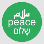 Peace in 3 Languages Stickers
