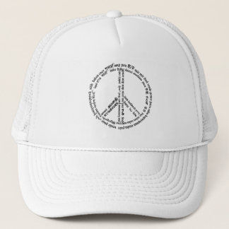 Peace in 65 Different Languages Trucker Hat